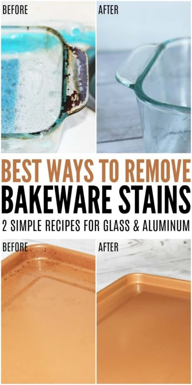 Best ways to remove bakeware stains, 2 simple recipes for glass and aluminum