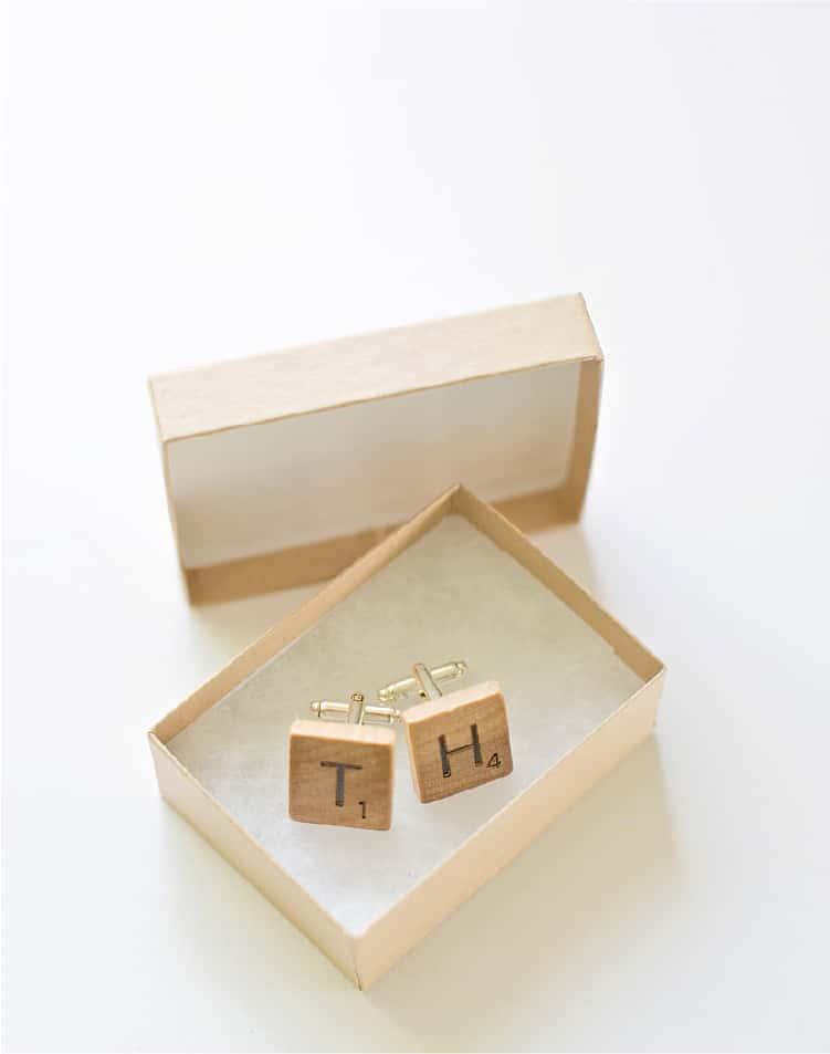 Scrabble Tiles Initial Cuff Links