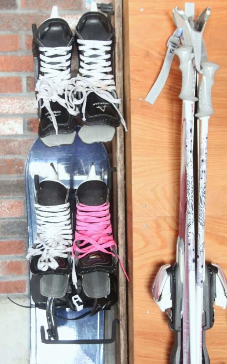 Hang skate shoes and skiis for the summer