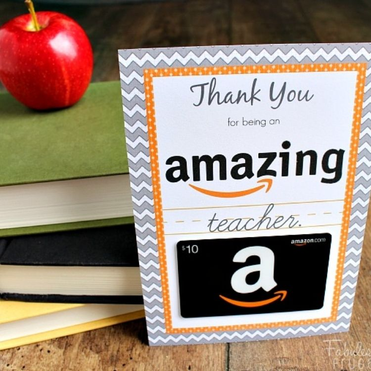 Amazing Amazon Teacher's Gift Card