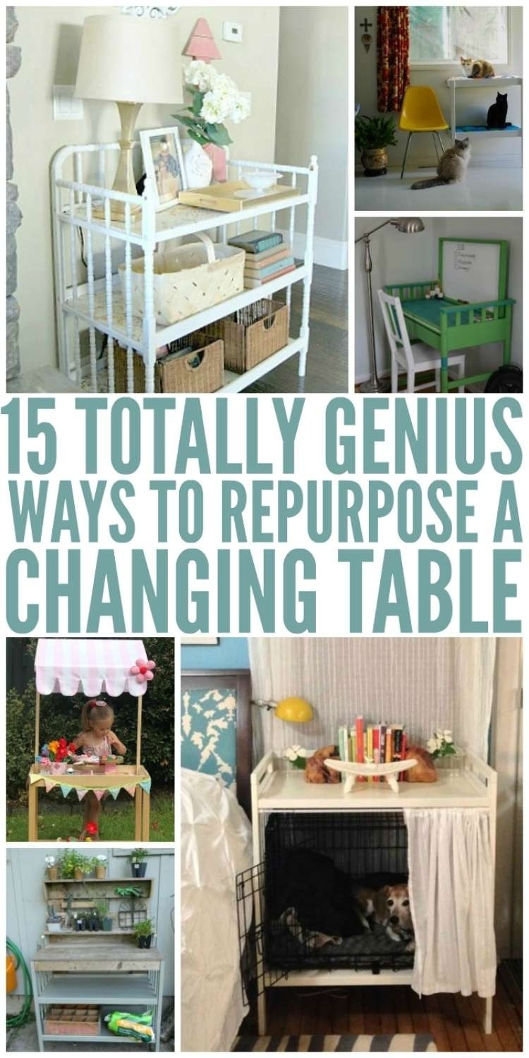 Crafty repurpose a Changing Table ideas