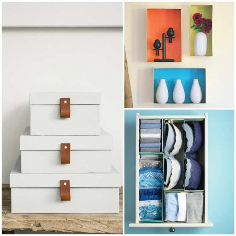 Shoeboxes made Crafty for Home Decor and Organization