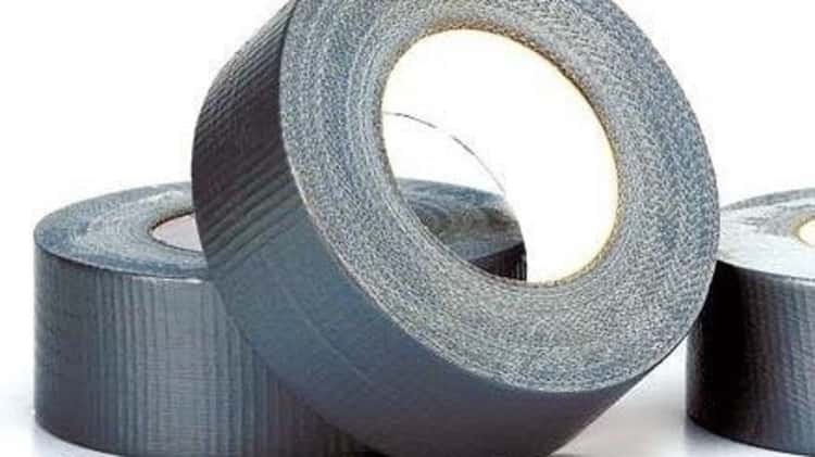 Duct tape to trap bugs and flies in car