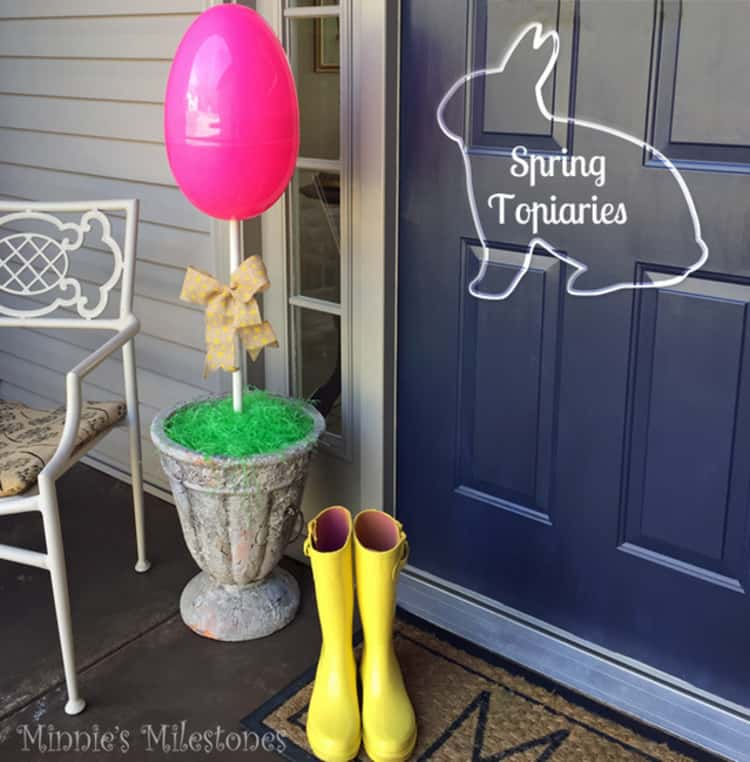 Egg Topiary For Easter Decorations