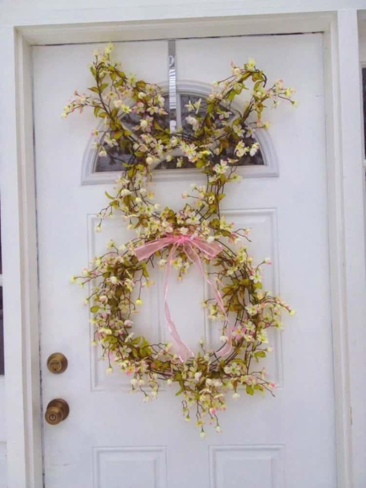 Bunny Breath For Front Door Decoration