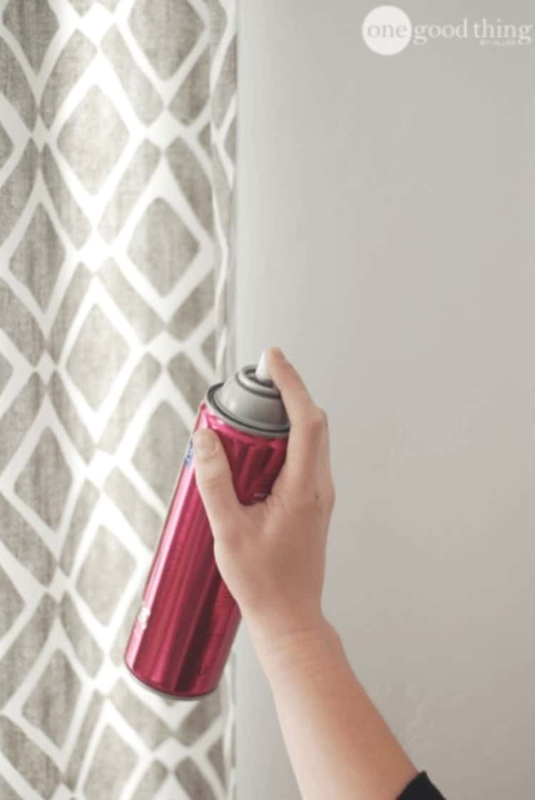 Hairspray hack to keep dust off curtains