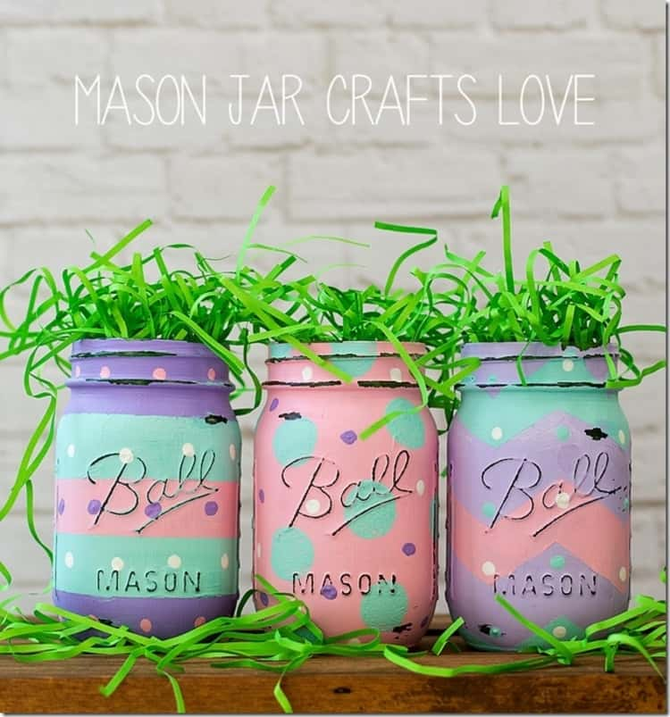 Easter Mason Jars For Decorating Your Home During Easter