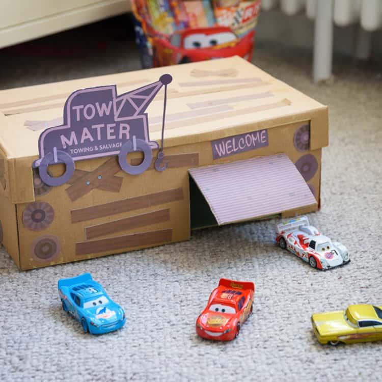 Toy Cars Shoebox Garage