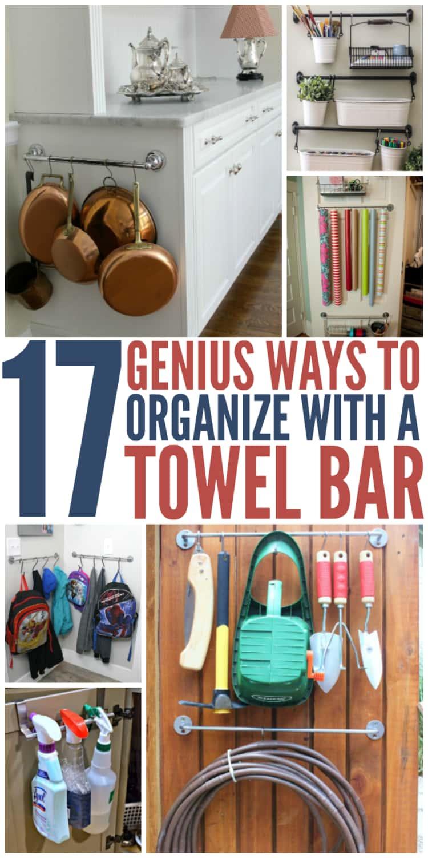17 towel bar organization ideas