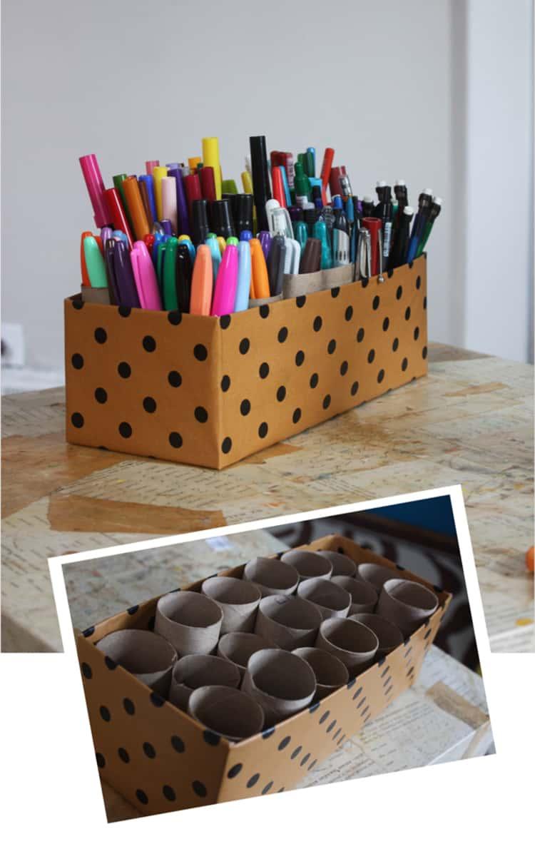 Pen Organizer from Shoebox Craft