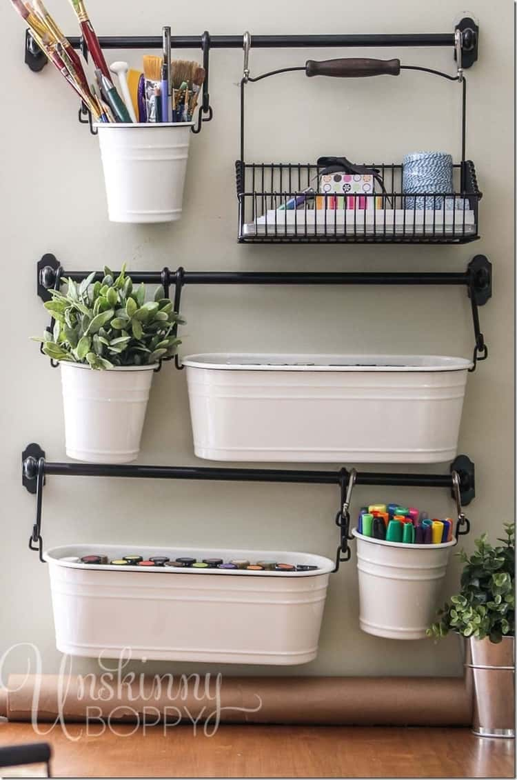Craft Tools Organizer From Towel Bars
