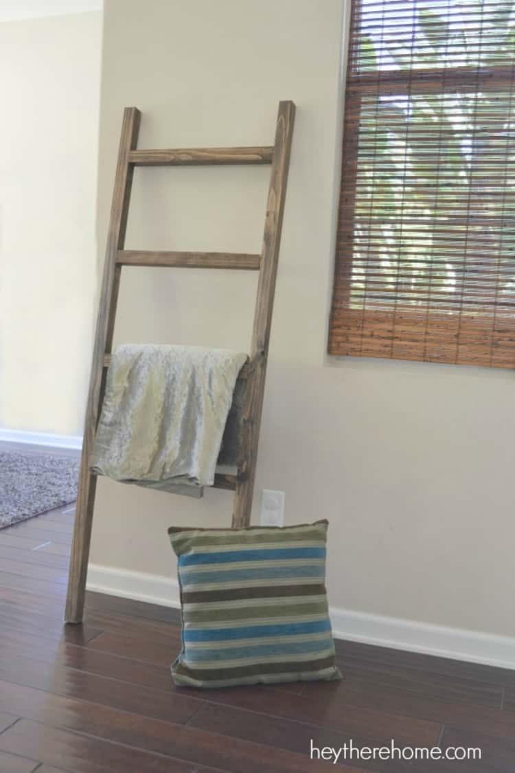 Pottery Barn Inspired Blanket Ladder