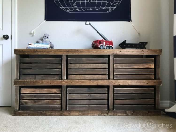 Pottery Barn Inspired Crate Dresser