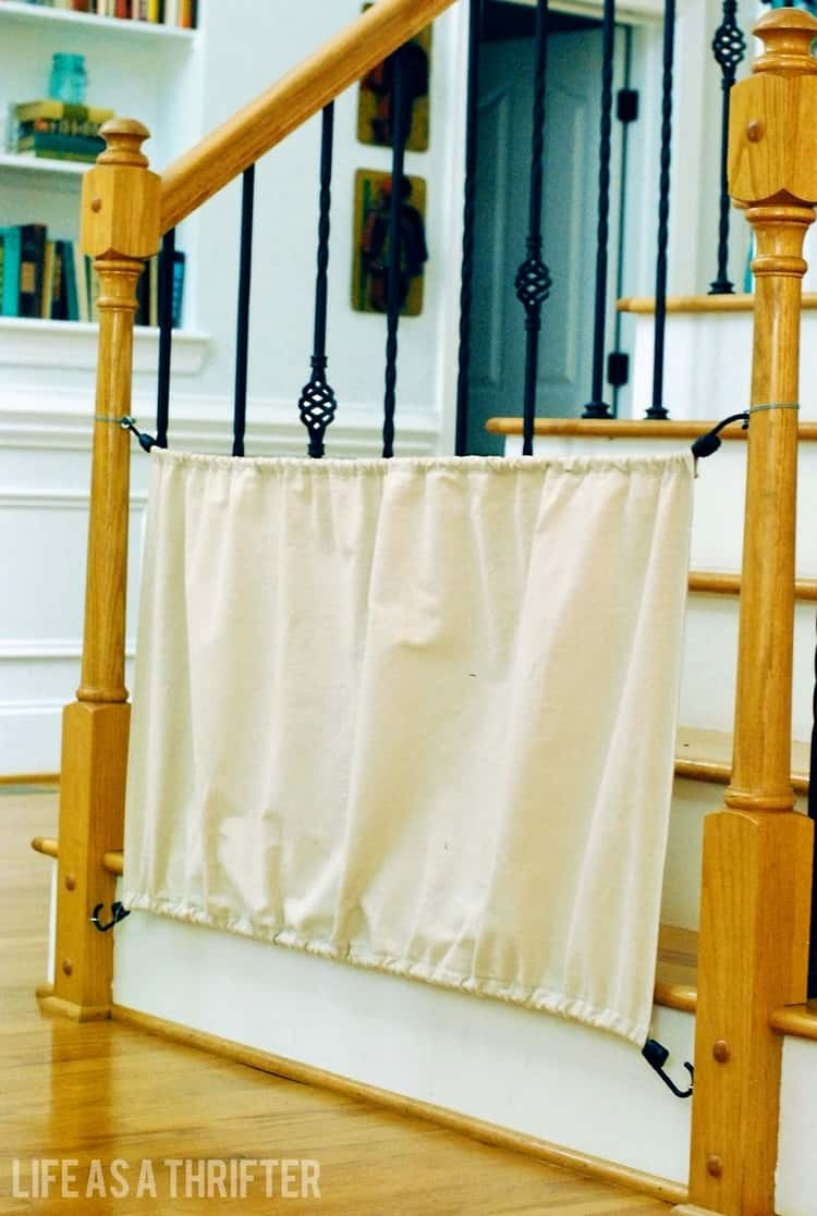 bungee cord uses - short-term baby gate made using bungee cords