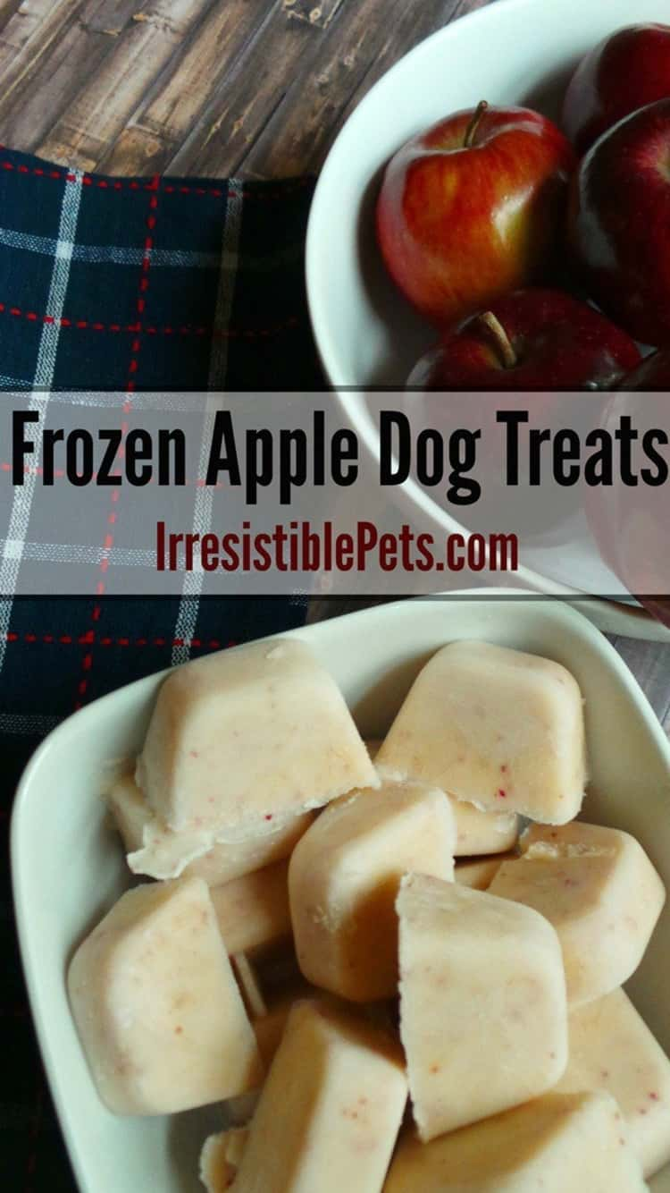 Frozen apple dog treats