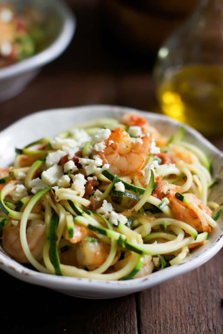 Spiralizer recipe - Garlic Shrimp Zucchini Noodles