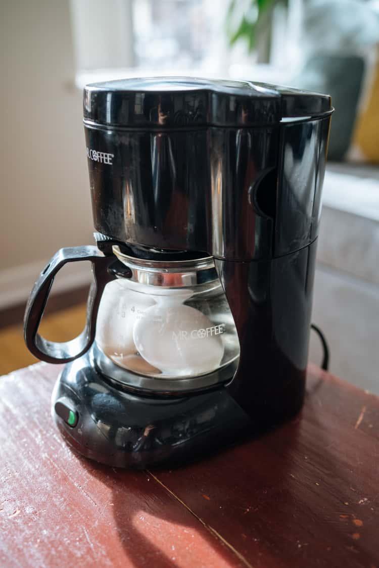 Hard boil eggs in the coffee maker
