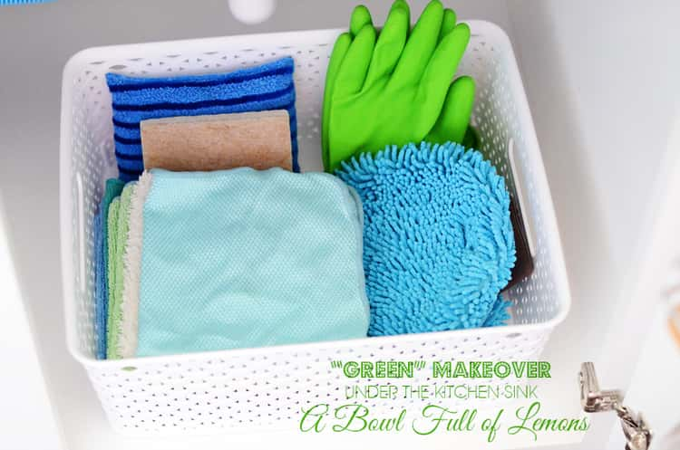 Carry your cleaning supplies in baskets