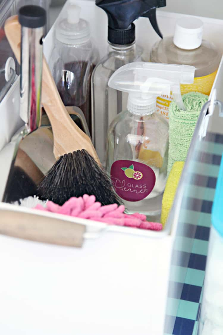 Use caddies to carry your cleaning supplies as you wash