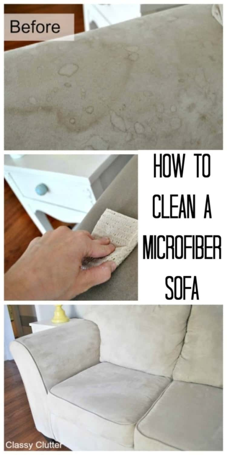 How to clean a microfiber sofa using rubbing alcohol