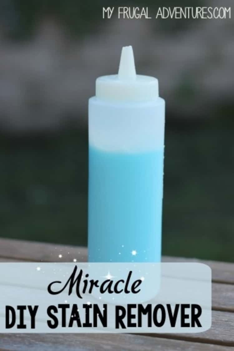 stain removal - DIY miracle stain remover in a bottle