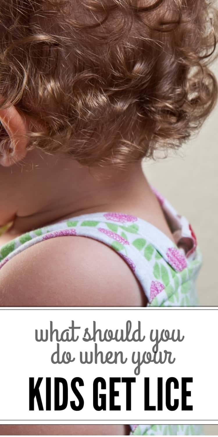 How to get rid of lice - photo showing kids hair and back partially, and captioned What Should You Do When Your Kids Get Lice?