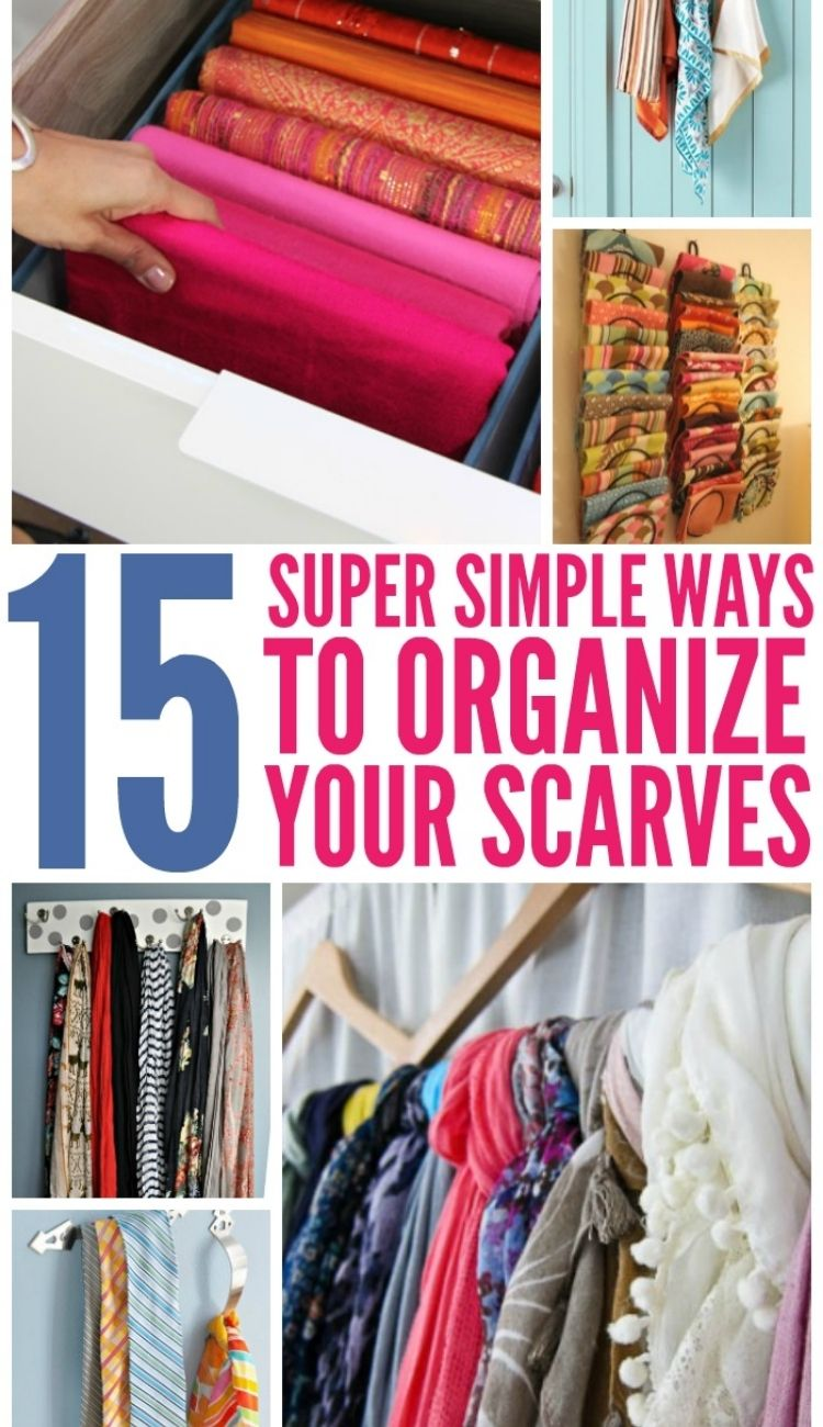 15 examples to organize scarves