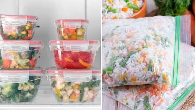 storing flat freezer organization - One Crazy House