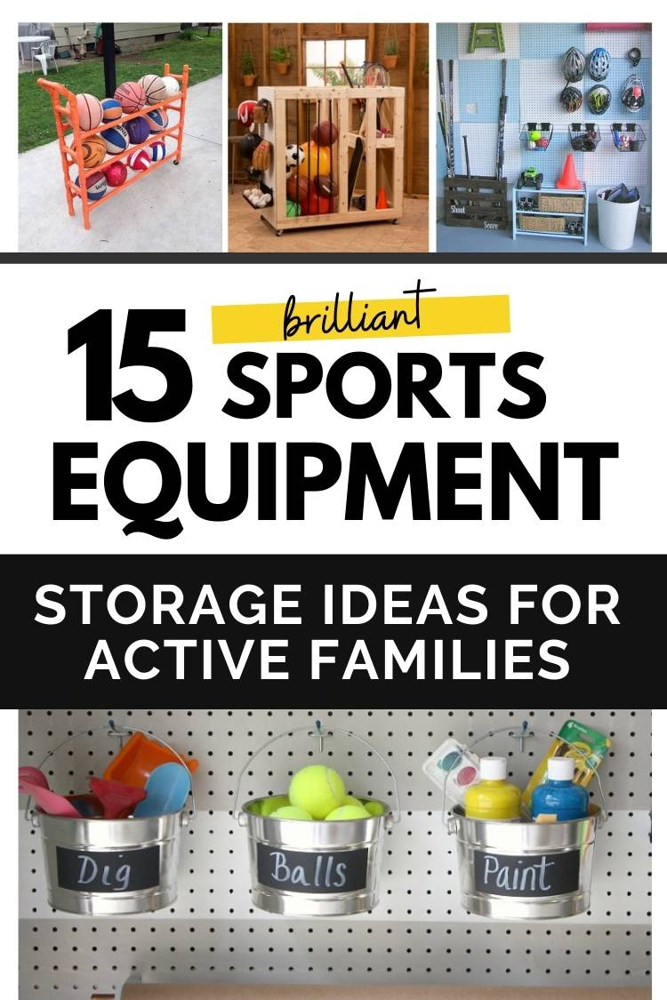 How to store sports equipment in the house