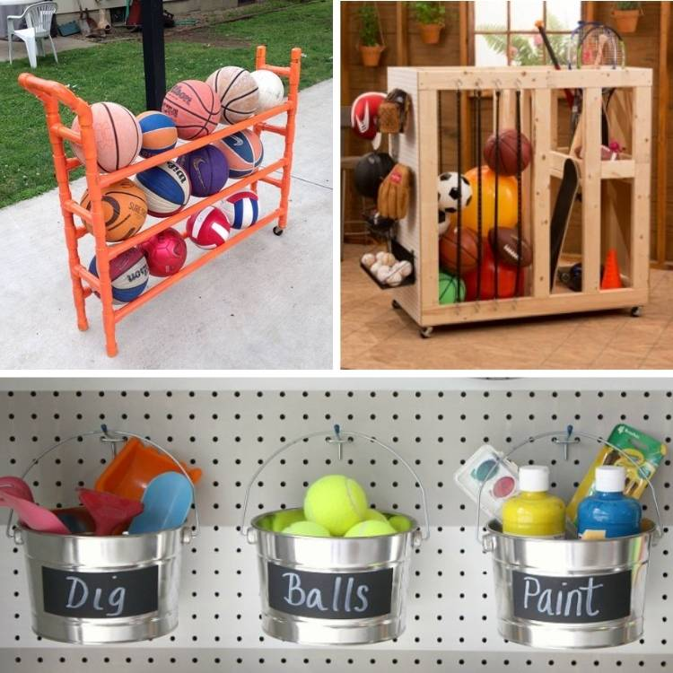 DIY Ideas How to store sports equipement