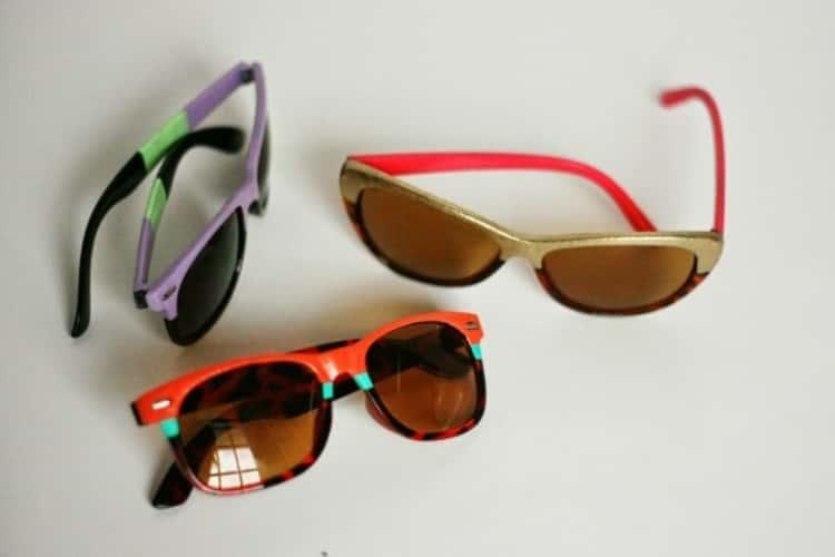 Make fun DIY sunglasses with nail polish
