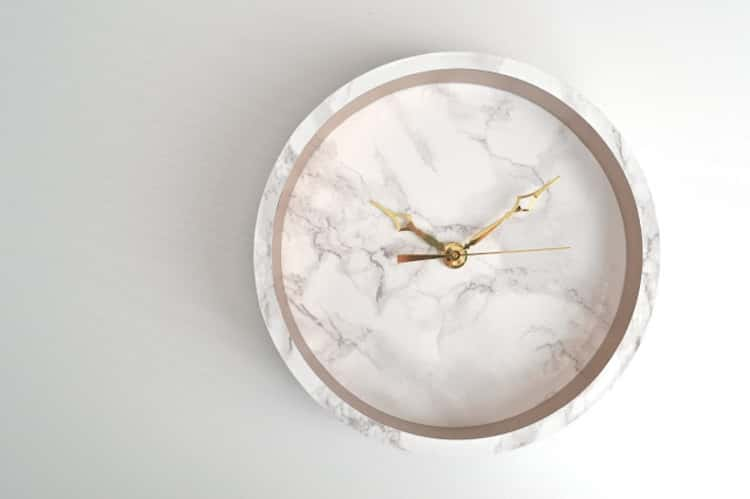 DIY a beautiful clock with decorative paper from Dollar Store
