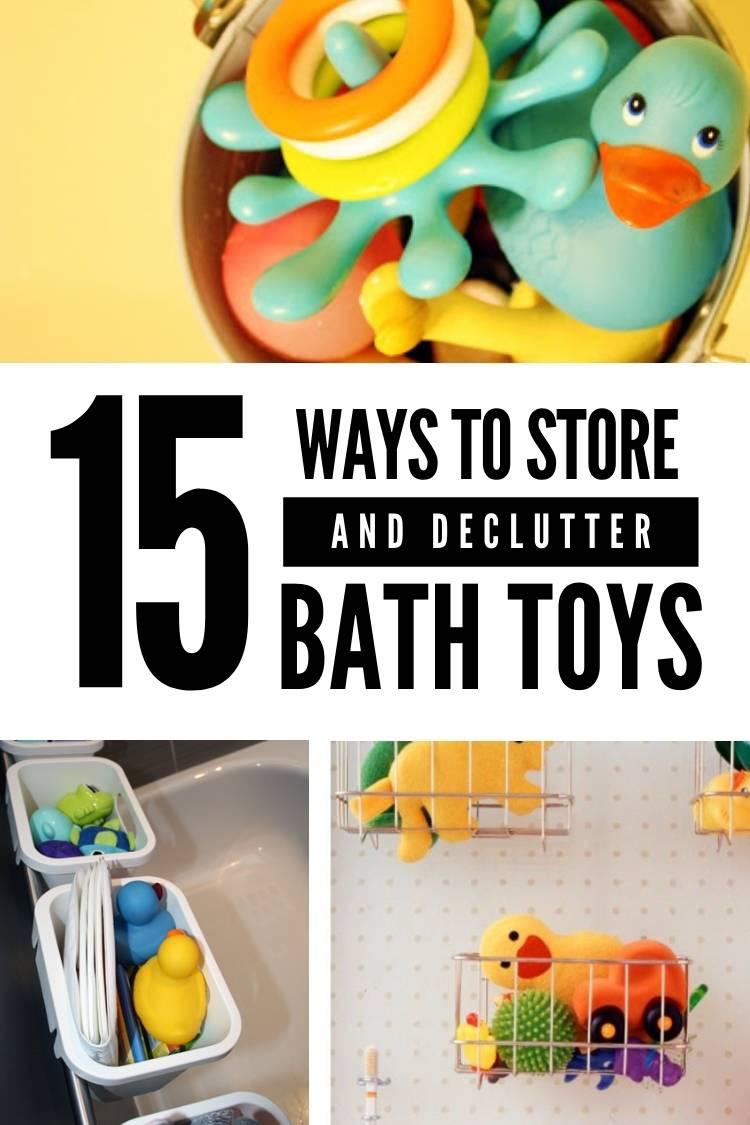 Smart bath toy storage for families