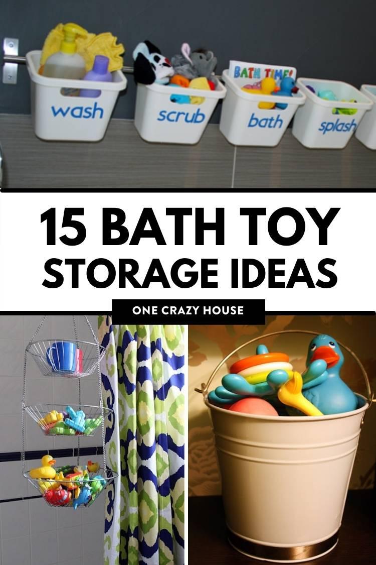 Genius Bath Toy Storage Ideas