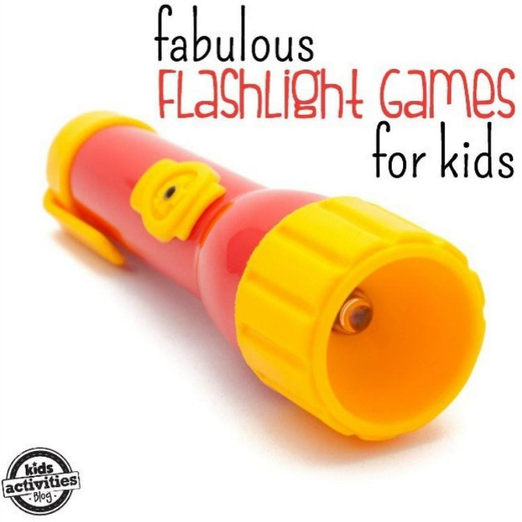 fabulous flashlight games for kids - yellow and red flashlight