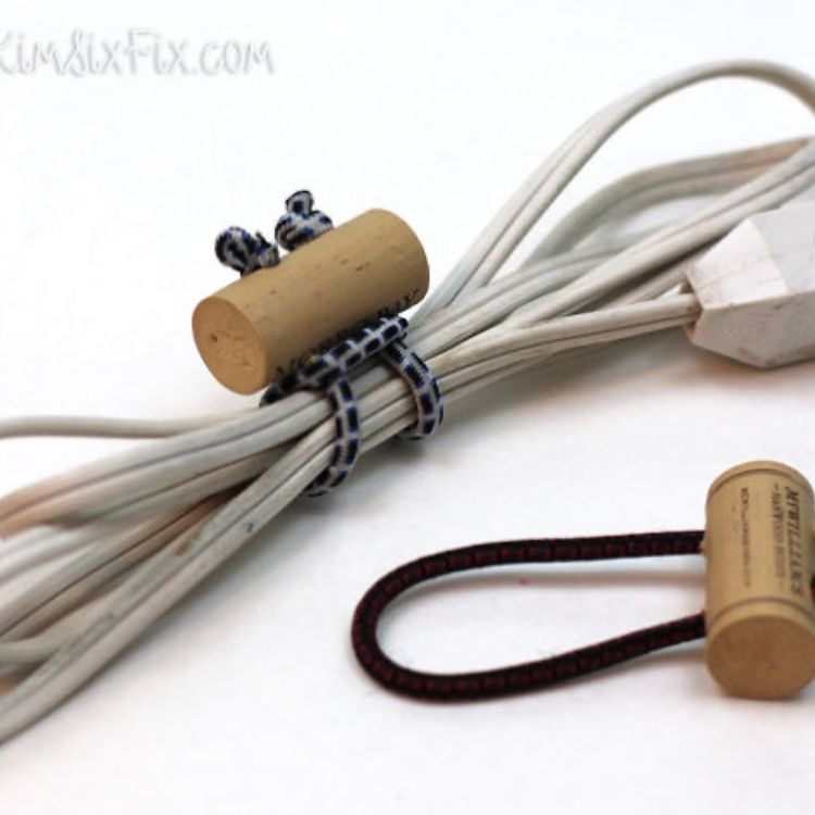 wine cork DIY cord organizers