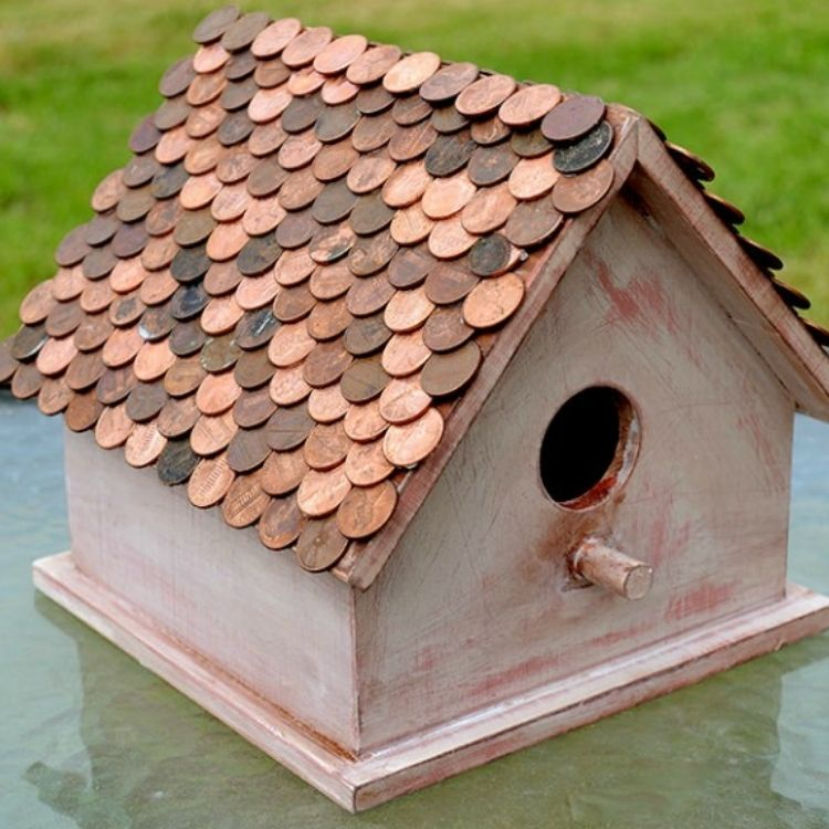penny roof birdhouse