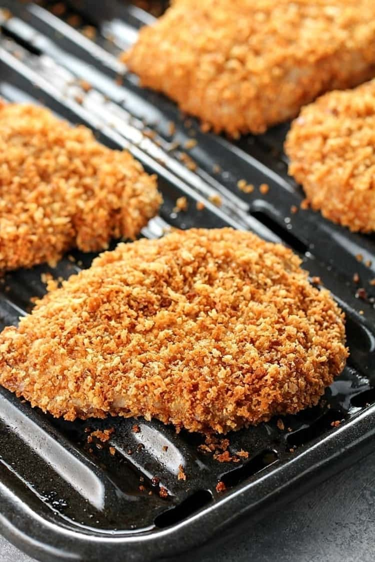 crispy baked breaded pork chops