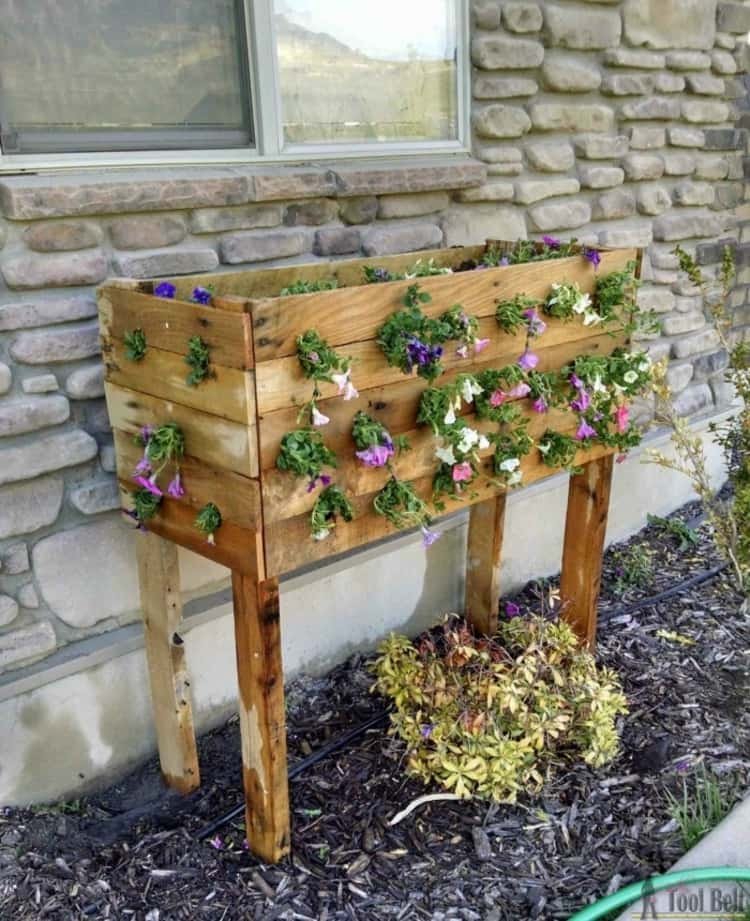 Pallet for Outdoor Flower Growing Box