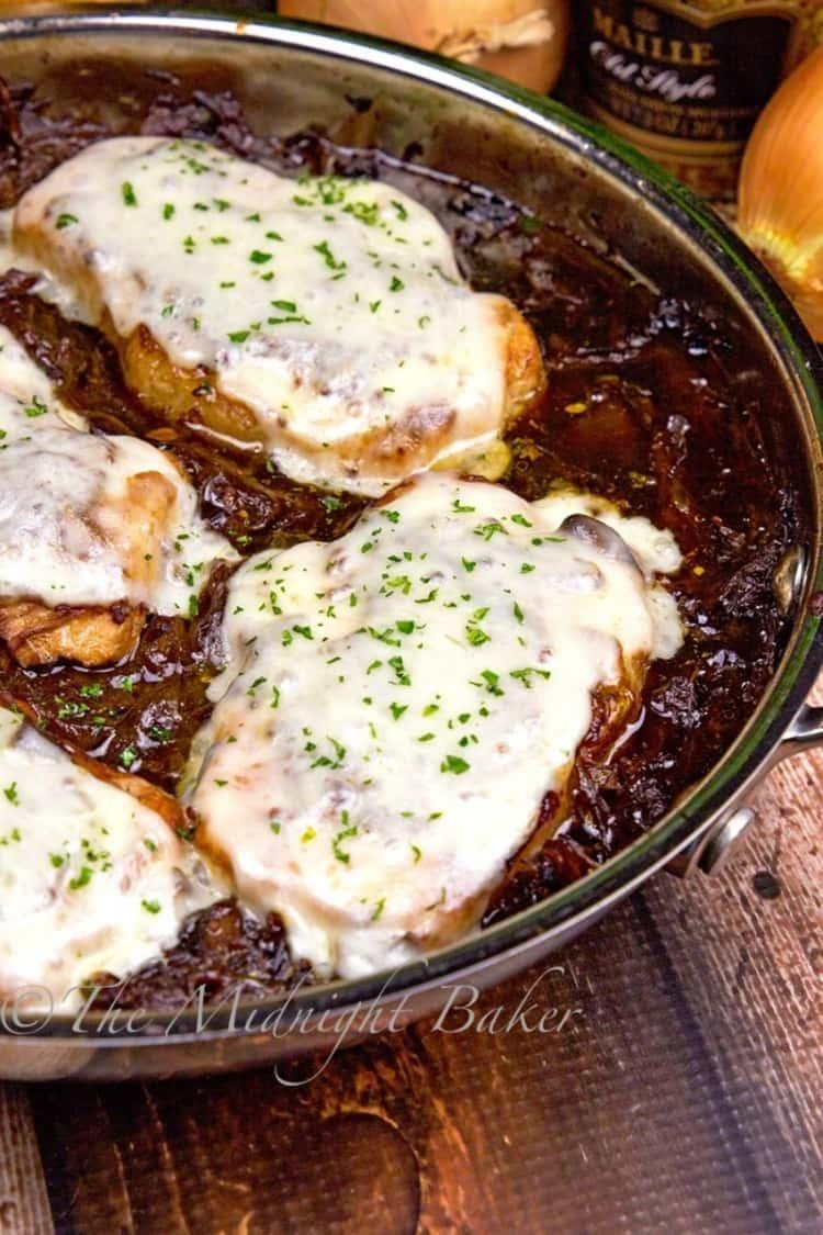 french onion soup pork chops