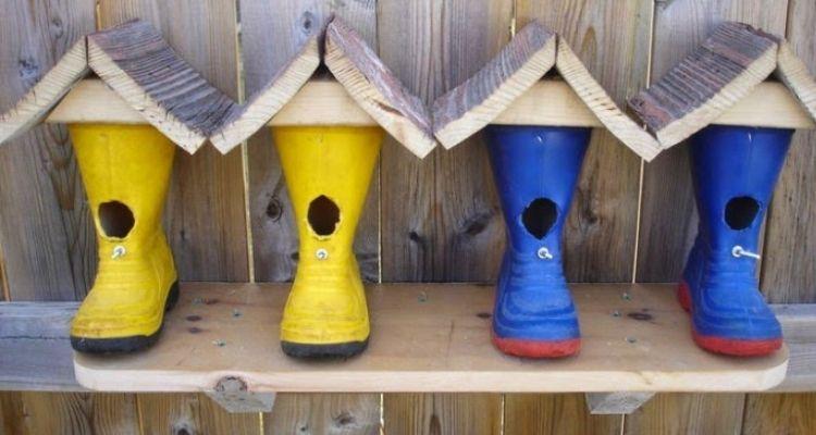 Rainbow Birdhouses