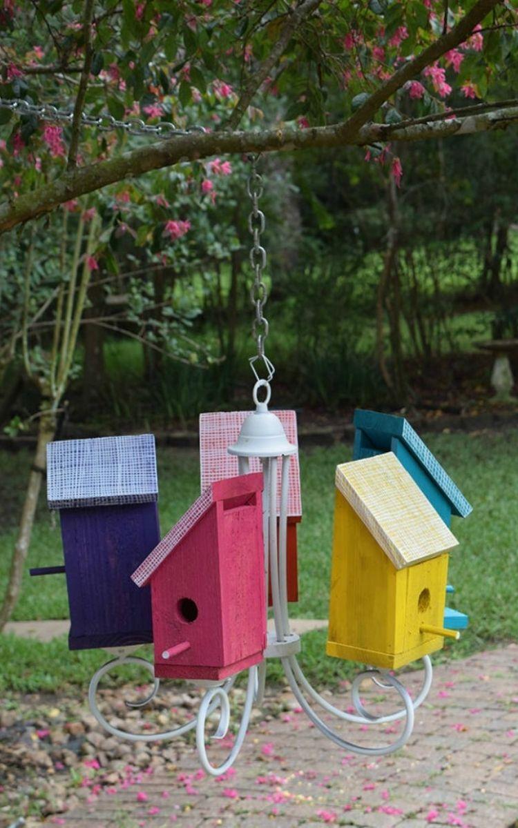 bird house chandelier