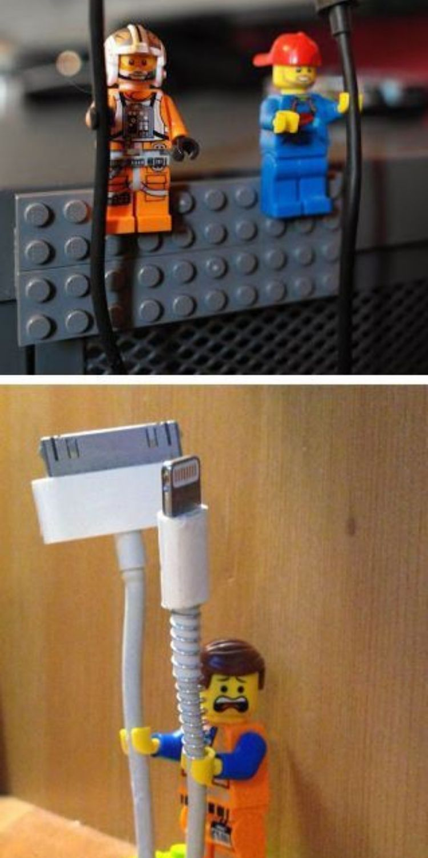 Lego men cord holders