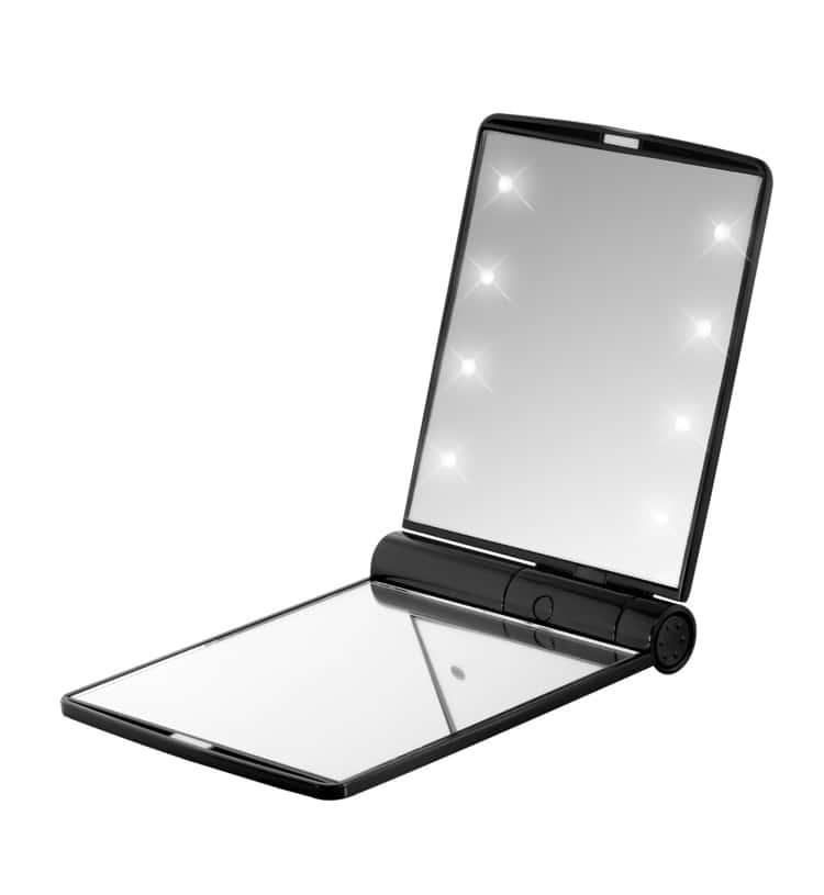 LED compact makeup mirror