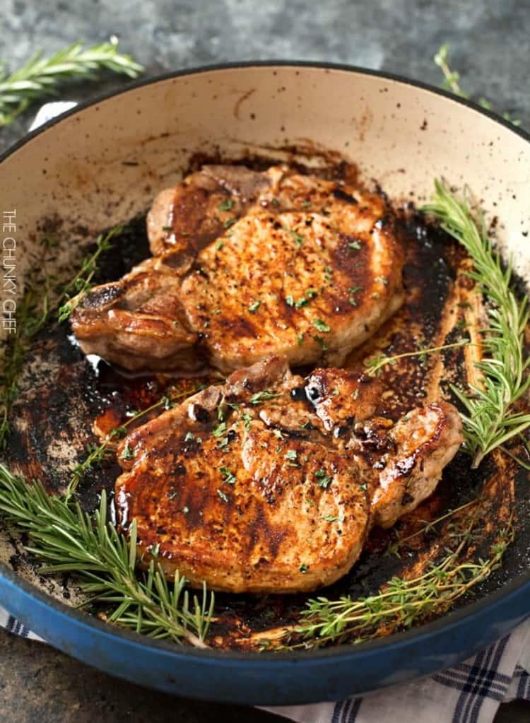 maple balsamic glazed pork chops
