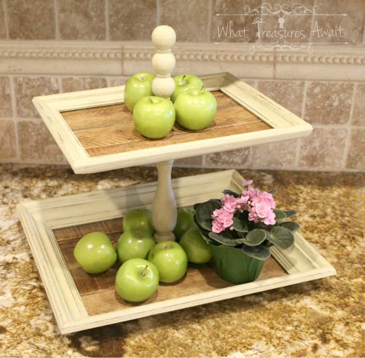 Tiered tray from picture frames