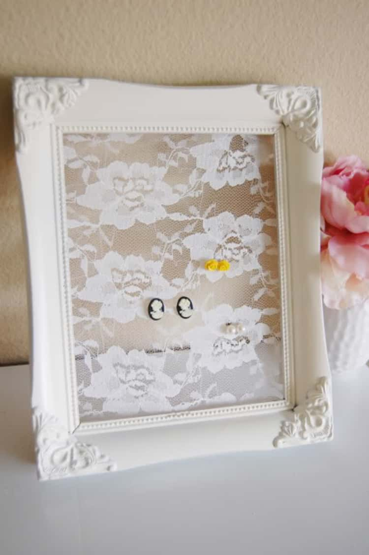 lace earring frame