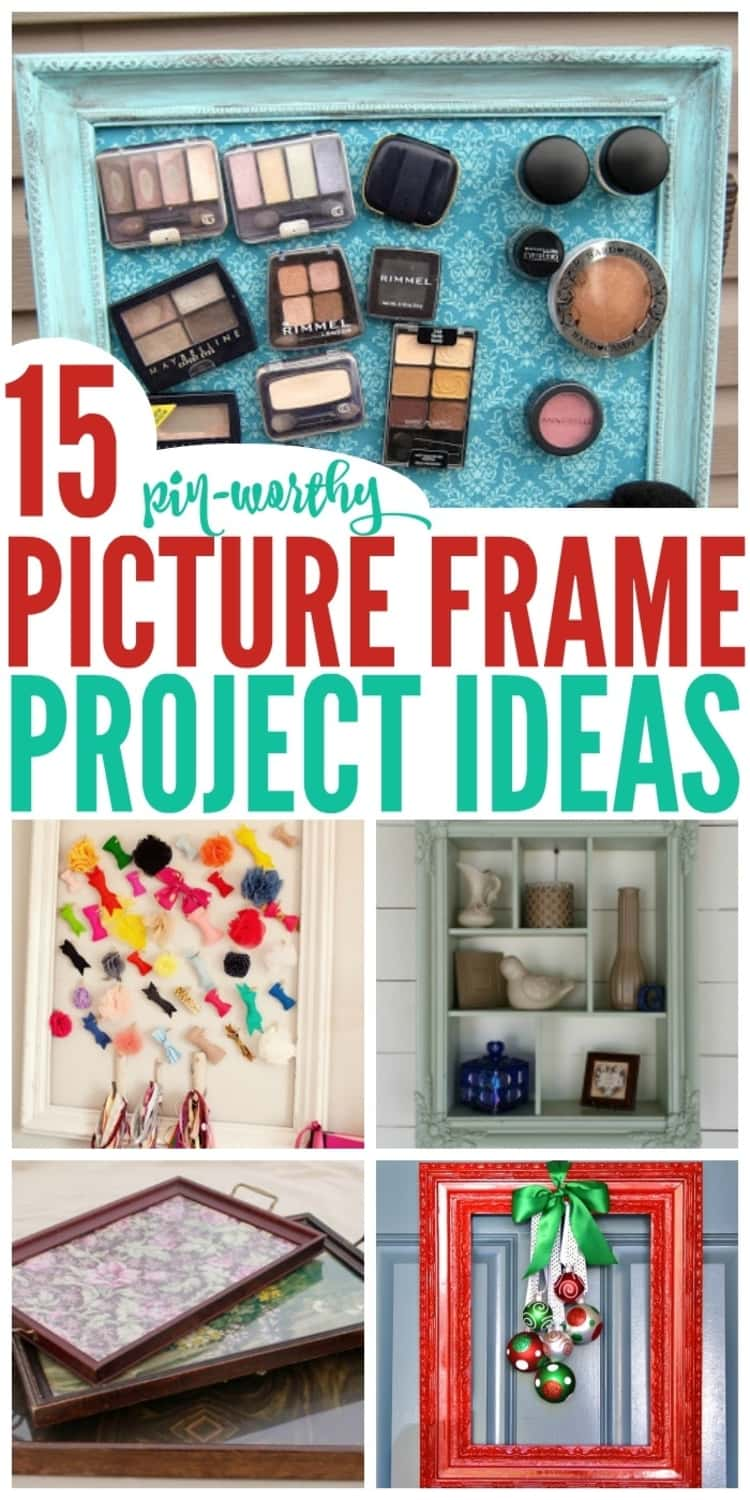 Picture frame repurposing project ideas