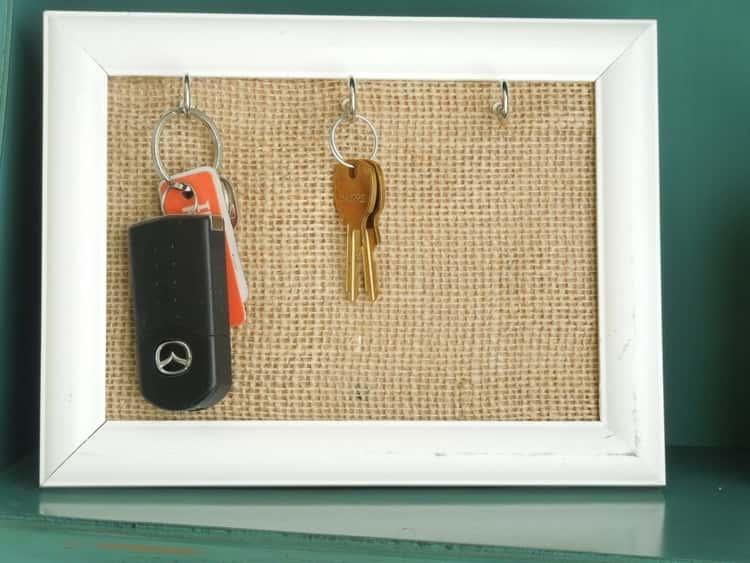 Key hanger frame from picture frame