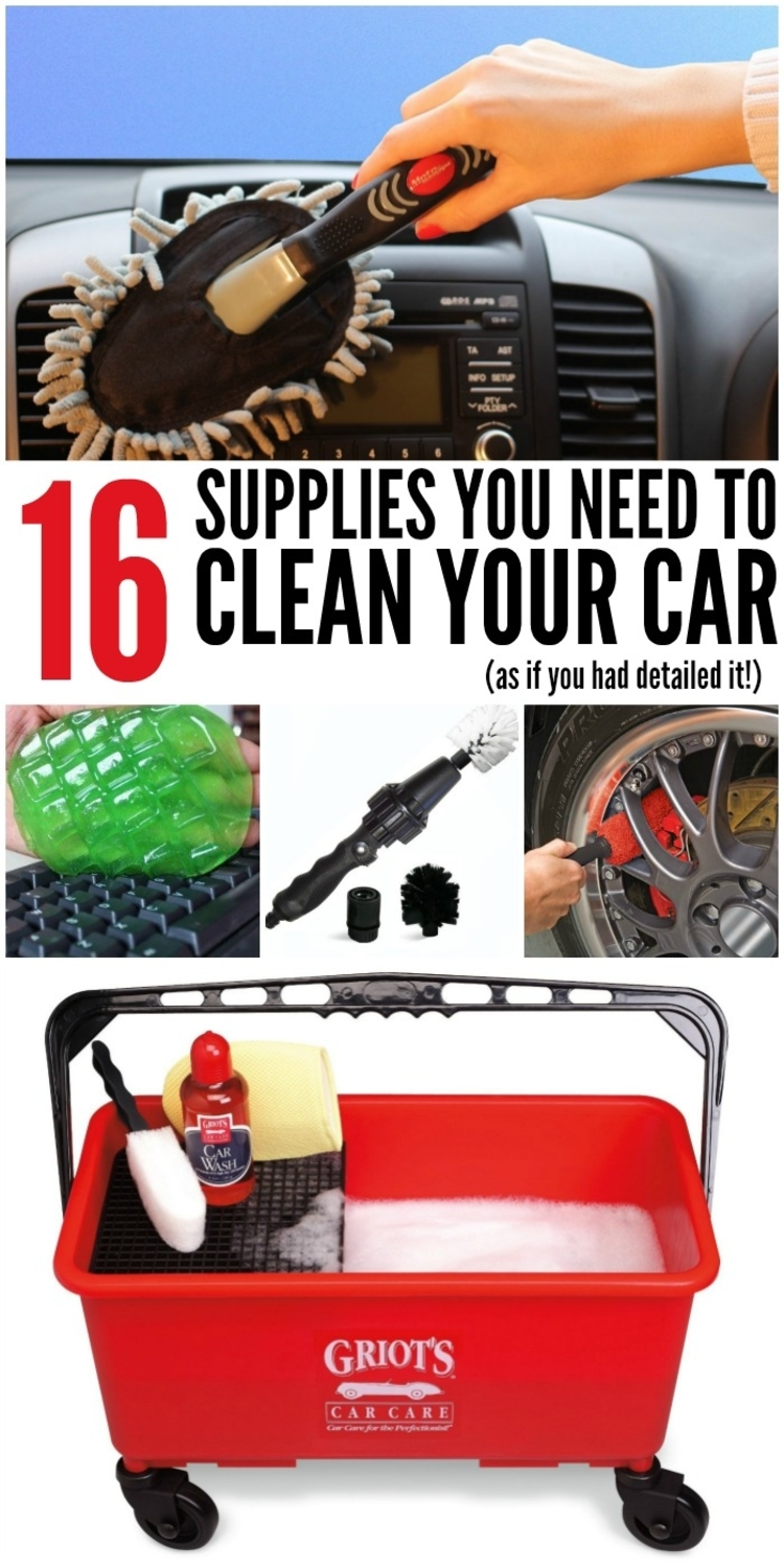 16 supplies you need to clean your car